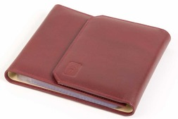 Leather CD case in Oxford hide