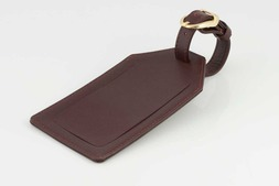 Leather Luggage tag in Oxford hide