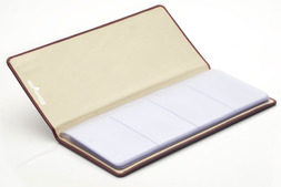 Leather Business card file in Oxford hide