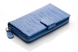 Clutch purse in Blue Nile