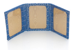 Triple Photo Frame in Blue Nile