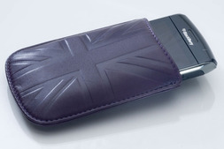 Blackberry cover in Britannia leather