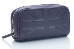 Small cosmetic bag in Britannia leather
