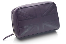 Medium cosmetic bag in Britannia leather