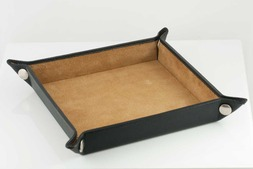 Leather Valet tray in Malvern hide