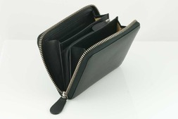 Leather small zip purse in Malvern hide