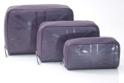 Britannia leather set 3 Cosmetic bags