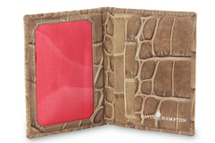 Leather Travel Card Holder in Serengeti